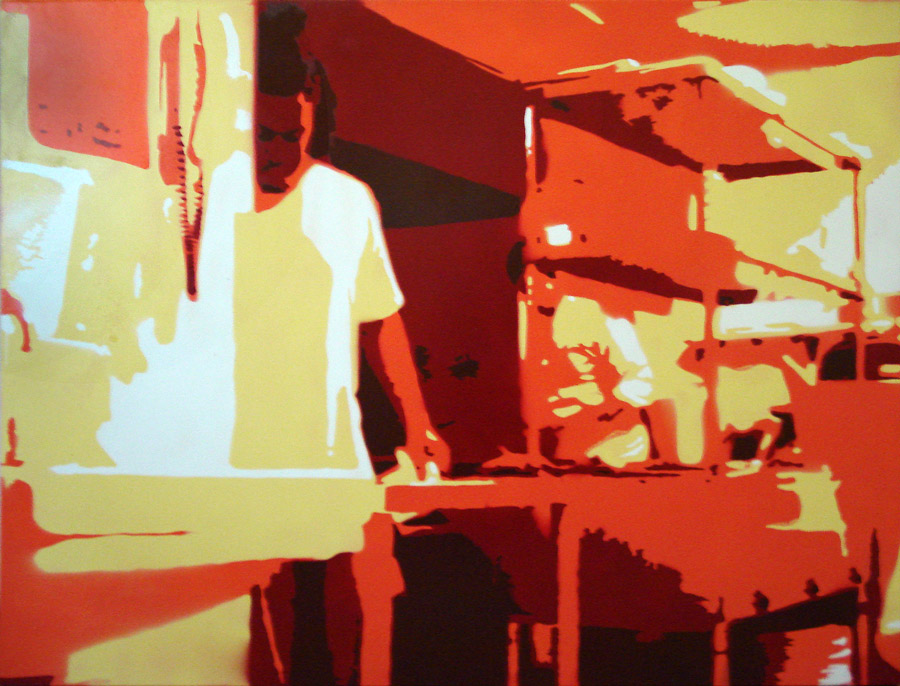 Kitchen Heat - Spraypaint on Canvas