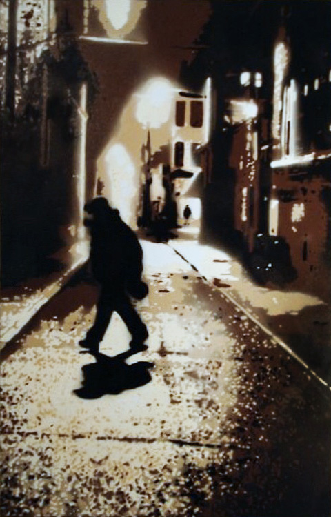 Nightlife - Spraypaint on Canvas